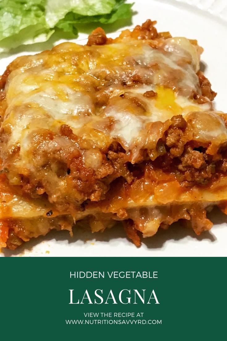 hidden vegetable lasagna