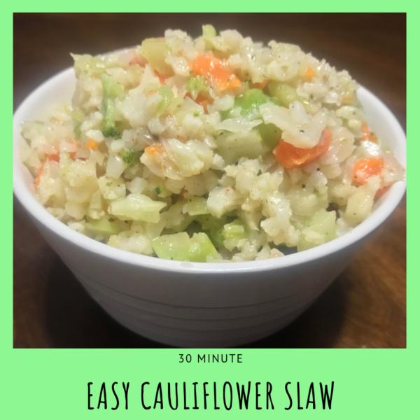 easy cauliflower slaw recipe