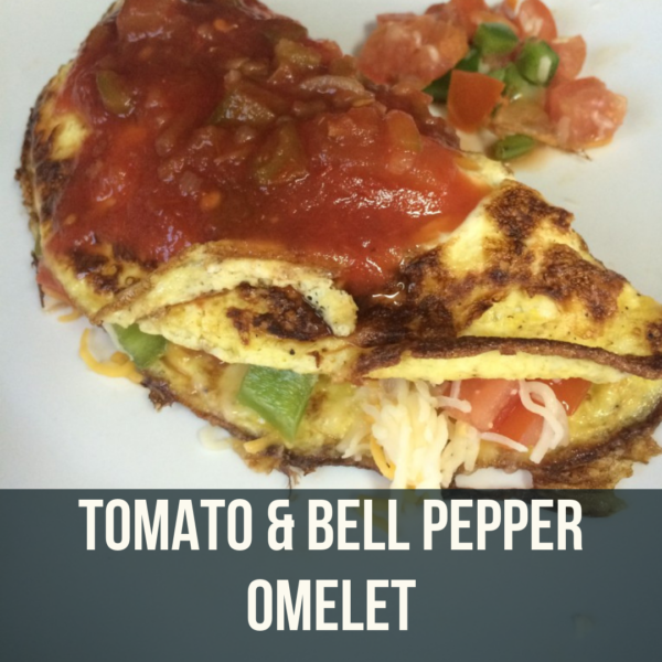 tomato and bell pepper omelet